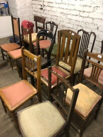 Various chairs , different styles .... all good condition All structurally good .