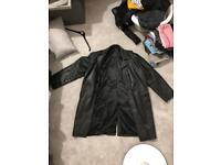 Eddy Taylor leather long coat