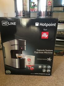 Brand new in box Hotpoint for Illy capsule coffee machine