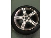 Lexus is200 alloy wheel & nearly new tyre. 215/45/17