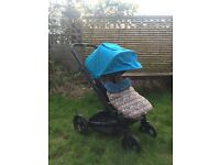 Mamas & Papas Sola Blue / Turquoise Pushchairs Single Seat Stroller Pram Buggy