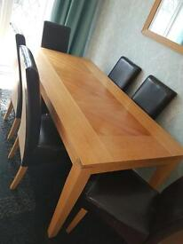 6ft Oak Dining Table & Chair set