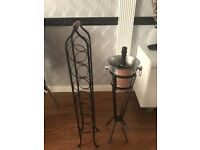 Wine Rack and Ice bucket with stand