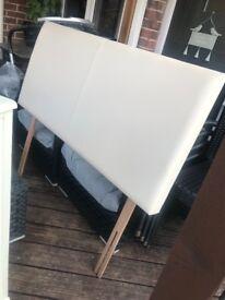 Cream headboard