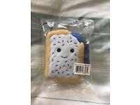 "Kid Robot Yummy World Pastry Blueberry Pop Tart Small 5"" Plush"