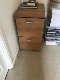 Oak effect filing cabinet