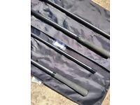 2 x Fox Warrior 12ft 3lb Carp Fishing Rods