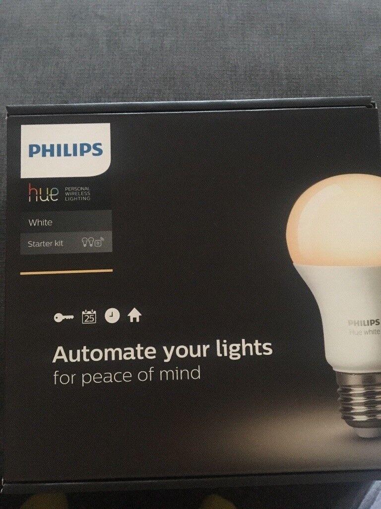 Philips Hue Wireless Lighting Starter Kit In Yateley Hampshire Fluorescent Lamp Lights