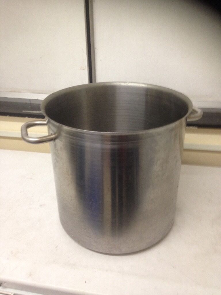 Large catering size stainless steel saucepan