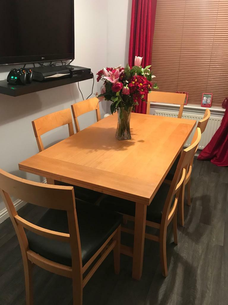Beech Dining Table Extendable And Chairs In Cupar Fife Gumtree - Extendable beech dining table