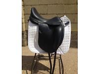 "Equipe Emporio Black 17"" Dressage Saddle"
