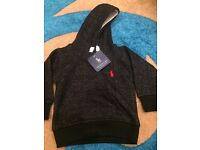 Brand new Ralph Lauren baby girl boys hooded top. Sized 0-3 months and 3-6 months