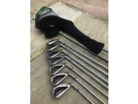 Golf set: Callaway Diablo Edge 5-SW irons, 5 wood & Taylormade RBZ driver