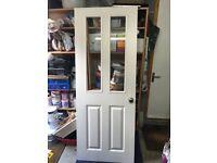 Pre-painted white internal doors