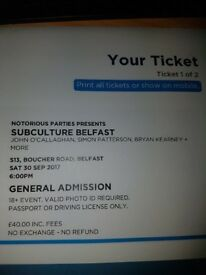 Subculture ticket