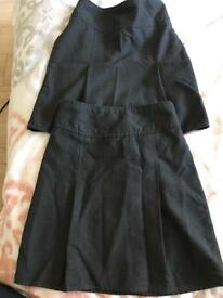 Girls grey school skirts age 7/8
