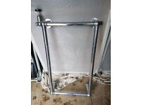 Antique style brass heated towel rail