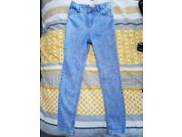 Girls river island jeans age 9