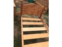 Solid pine single bed frame - £35 delivered