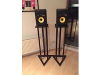 KRK RP6 Studio Monitors / Speakers with Stands