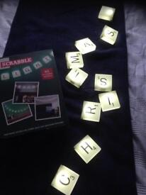 Scrabble lights with reusable stickers