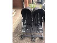 Double pushchair mamas and papas