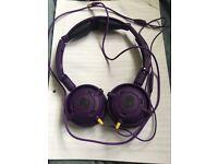 Purple Skullcandy Headphones