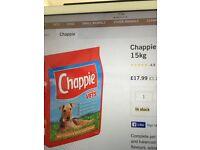 Chappie dry chicken dog food 15k & 12k