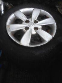 kia rio wheels and tyres