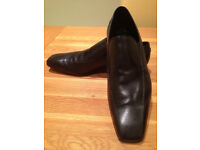 Kurt Geiger Black 'Sacramento' Men's Smart Slip-on Shoes (UK10/EU44) (worn twice only) JUST REDUCED