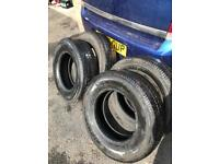 195/15 8 ply rating tyres x4 mint tread match