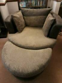 DFS round Swivel couch.