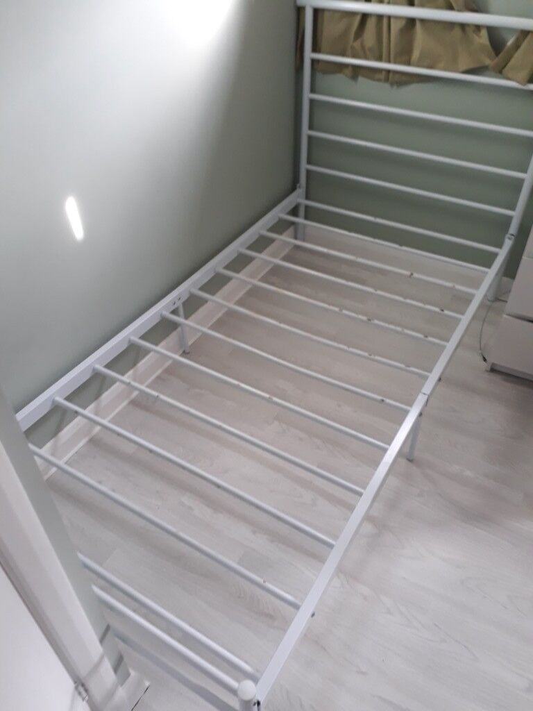 White Single Bed For Sale Metal Frame In Chandlers Ford Hampshire