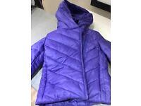 Beautiful little girls purple coat / jacket. Age 3