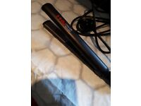 MHU Ceramic hair straightener,total length 12 inch