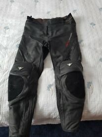 Motorbike clothing and accessories.