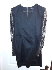 French Connection long sequined sleeve dress 10