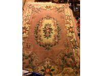 Pink patterned rug. 4ft x 7ft. Very good condition