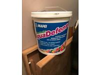 Mapei Aqua defence for wet room and bathroom tanking / water proof membrane.
