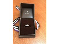 LOVELY BEAVERBROOKS 9CT WHITE GOLD .24CT DIAMOND ENGAGEMENT RING EXCELLENT CONDITION
