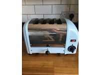 Dualit 4 slice toaster in blue