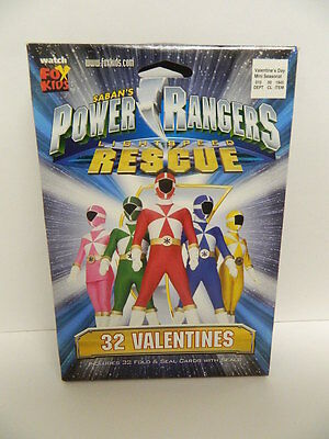POWER RANGERS LIGHT SPEED RESCUE VALENTINES 32 FOLD & SEAL CARDS WITH SEALS