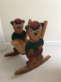 NEW PRICE!! Children's solid wood teddy rocking chair - great condition!