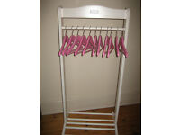Girls Dressing Up Rail with Hangers