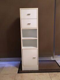 Tall slim white cabinet