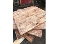 Reclaimed Wood Table Tops x10