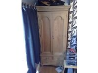 Solid Pine Wardrobe with drawers underneath