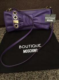 Moschino Boutique leather clutch/shoulder bag