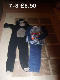 boys onesie and mario pjs