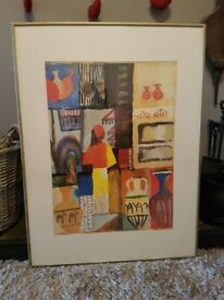 Two Abstract Prints in metal frames.